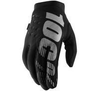 100% Men's Brisker Cold-Weather Gloves Black/Grey View