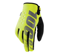 100% Men's Brisker Cold-Weather Gloves Neon Yellow/Black View