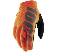 100% Men's Brisker Cold-Weather Gloves Fluorescent Orange/Black View