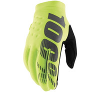 100% Men's Brisker Cold-Weather Gloves Fluorescent Yellow/Black View