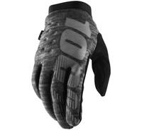 100% Men's Brisker Cold-Weather Gloves Heather/Grey View