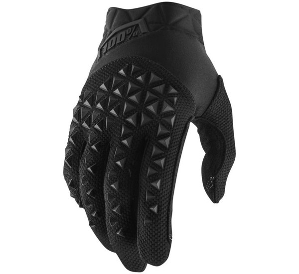 100% Airmatic Off Road Gloves For Men's Black/Charcoal View