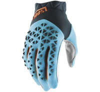 100% Airmatic Off Road Gloves For Men's Steel Grey/Ice Blue/Bronze View