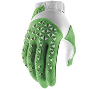 100% Airmatic Off Road Gloves For Men's Silver/Fluorescent Lime View