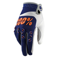 100 % Airmatic Off Road Gloves For Men Navy/Orange/White View