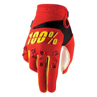 100 % Airmatic Off Road Gloves For Men Red/Yellow/Black View