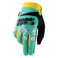 100 % Airmatic Off Road Gloves For Men Mint/Black/Yellow View