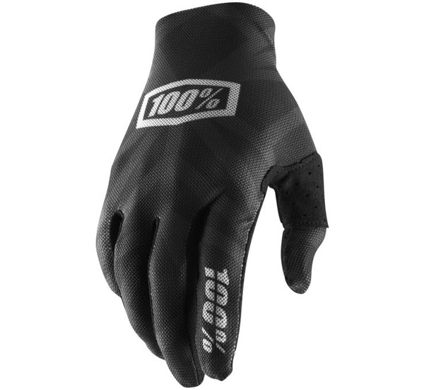 100% Celium 2 Off Road Gloves For Men's Black/Silver View