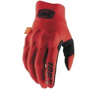 100% Cognito Off Road Gloves For Men's Red/Black View