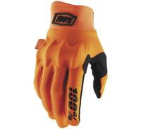 100% Cognito Off Road Gloves For Men's Fluorescent Orange/Black View