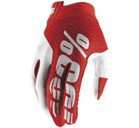 100% iTrack Off Road Gloves For Men's Red/White View