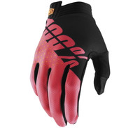 100% iTrack Off Road Gloves For Men's Fluorescent Red/Black View