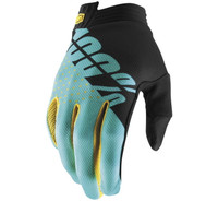 100% iTrack Off Road Gloves For Men's Aqua/Black View