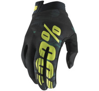 100% iTrack Off Road Gloves For Men's Camo/Yellow View