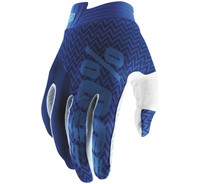 100% iTrack Off Road Gloves For Men's Blue/Navy/White View