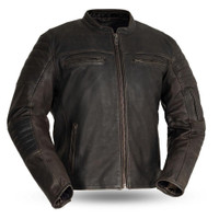 First Classics Commuter Leather Jacket For Men