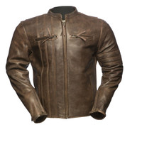 First Classics Cafe A-Lister Leather Jacket For Men