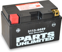 Parts Unlimited Non-Spillable Motorcycle Battery