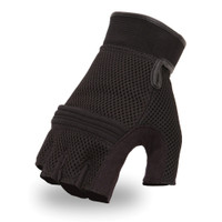 First Racing Mesh Fingerless Gloves with Gel Palm