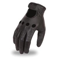 First Racing Unlined Classic Cowhide Driving Gloves