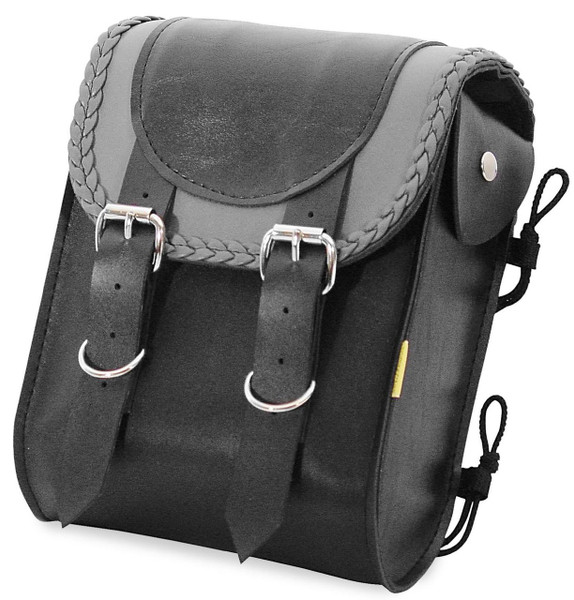 Willie & Max Gray Thunder Braided Sissy Bar Bag