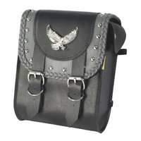Willie & Max Gray Thunder Studded Sissy Bar Bag