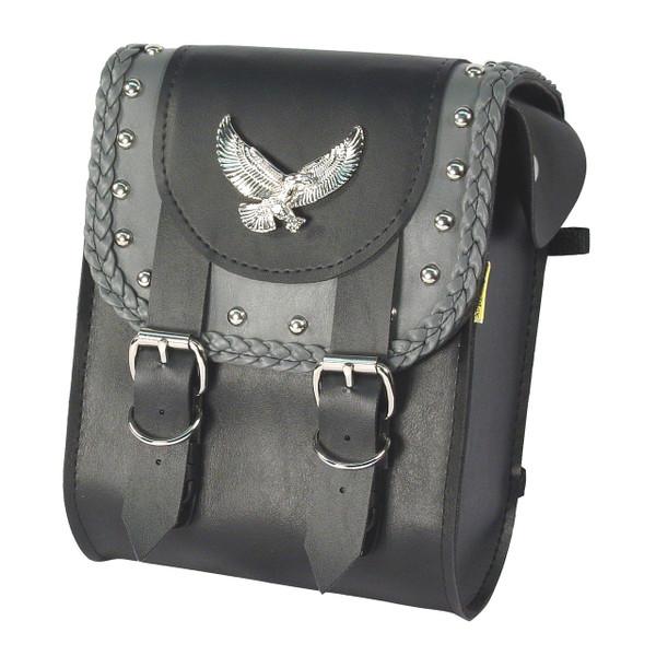 Willie & Max Gray Thunder Studded Sissy Bar Bag