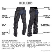 Viking Cycle  Braided Motorcycle Leather Chaps For Men Highlights