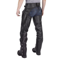 Viking Cycle  Braided Motorcycle Leather Chaps Back Side