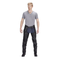 Viking Cycle Braided Motorcycle Leather Chaps For Men