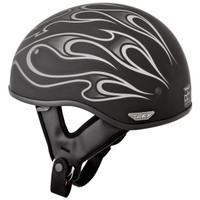 Fly Racing .357 Flame Helmet Gray