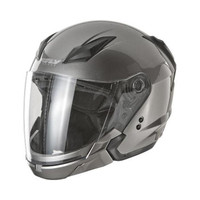 Fly Racing Tourist Solid Helmet Silver
