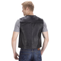Viking Cycle Raider Motorcycle Vest for Men Back Side