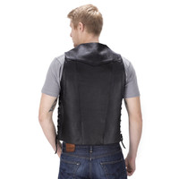 Viking Cycle Thorfinn 10 pocket Motorcycle Vest for Men Back Side