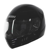 Vega Trak Junior Full Face Karting Helmet Flat Black Front Side