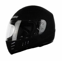 Vega Trak Junior Full Face Karting Helmet Gloss Black Front Side