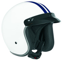 Vega X-380 Open Face Helmet with Blue Stripe