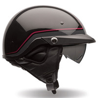 Bell PS PIT Boss Pin Stripe Half Face Helmet Black/Red