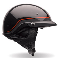 Bell PS PIT Boss Pin Stripe Half Face Helmet Black/Orange