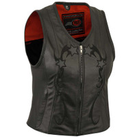 First Classics Stardom Ladies Zip Front Reflective Star Vest