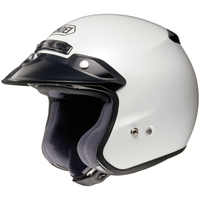 Shoei Rj Platinum R Helmet Crystal White