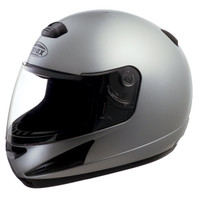 G-Max GM38 Solid Helmet Silver
