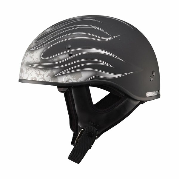 G-Max GM65 Flame Helmet Silver
