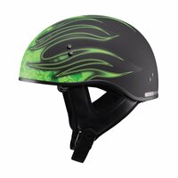 G-Max GM65 Flame Helmet Green