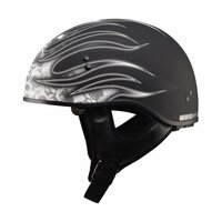 G-Max GM65 Flame Helmet White