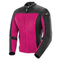 Joe Rocket Women's Velocity Jacket Pink Front Side View