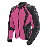 Joe Rocket Women's Cleo Elite Jacket Pink Front Side View