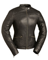 First Classics Black Diamonds Ladies Scooter Jacket