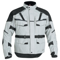 Firstgear Jaunt T2 Jacket Silver Front Side View