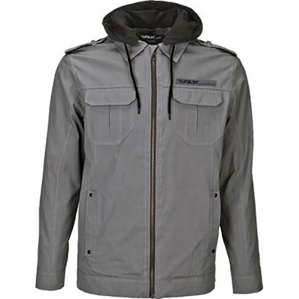 Fly Racing Waxed Jacket Gray